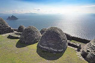 The Skellig rocks off the coast of Ireland